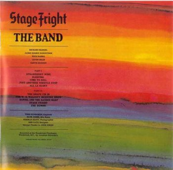 The Band : © 1971 ''Stage Fright''(Remastered 2000)