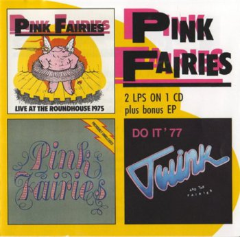 Pink Fairies - Live At The Roundhouse / Previously Unreleased / Twink And The Fairies (Big Beat Records) 1991