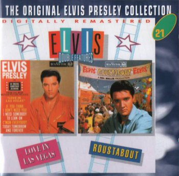 The Original Elvis Presley Collection : © 1993 ''Elvis Double Features'' (Love In Las Vegas & Roustabout) (50CD's)