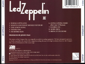 Led Zeppelin © - 1969 Led Zeppelin II