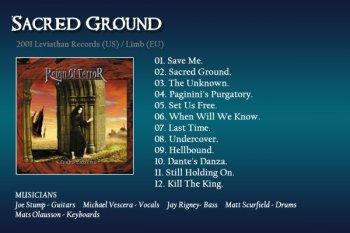 Joe Stump's Reign of Terror - Sacred Ground (2001)