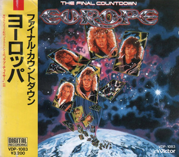 EUROPE: The Final Countdown (1986) (Japanese 1st Press VDP-1083)