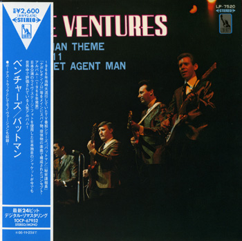 "THE VENTURES: Play the ""Batman"" Theme (1966) (2006, Japan, TOCP-67952)"