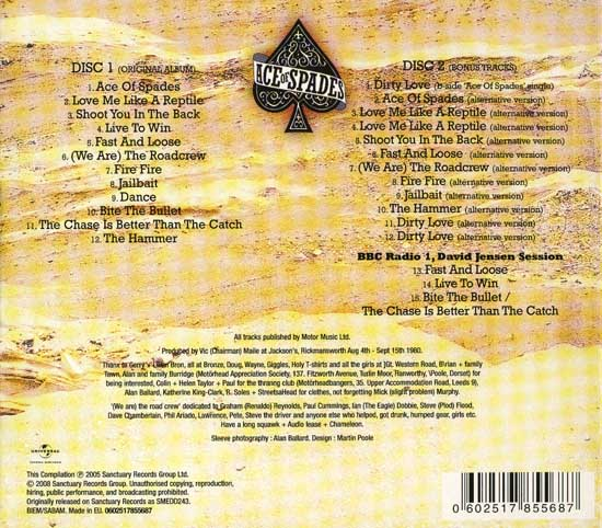 MOTORHEAD: Ace Of Spades (1980) (2008, Deluxe Edition) (Double