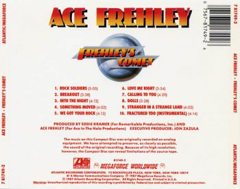 ACE FREHLEY: Frehley's Comet (1987) (Non-remastered, Atlantic/Megaforce 781749-2)