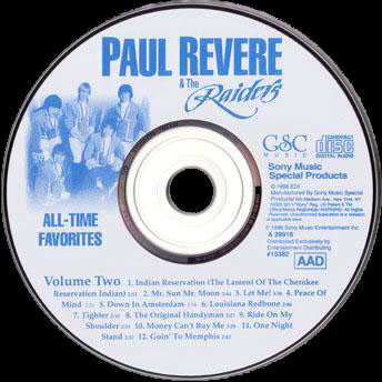 Paul Revere & The Raiders � 36 All-Time Favorites (3CD Set) 1998 � WAVPack, lossless