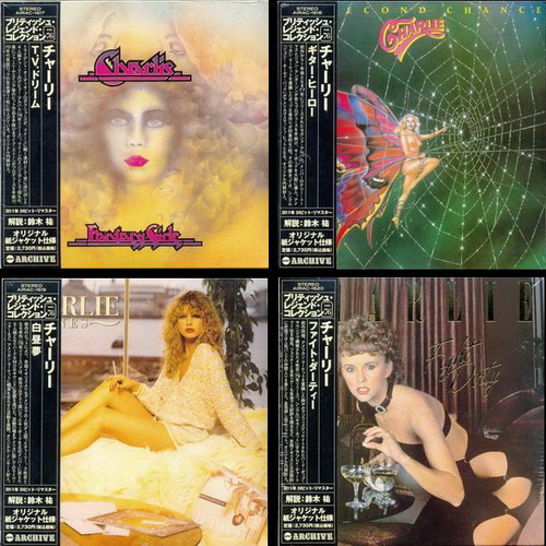 Charlie: 4 Albums Cardboard Sleeve ● 24 Bit Remaster 2011 - 1976 Fantasy Girls / 1977 No Second Chance / 1978 Lines / 1979 Fight Dirty ● Air Mail Archive Japan 2011