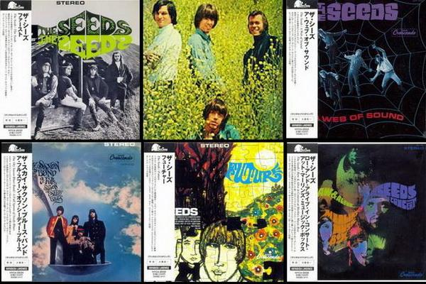 The Seeds / Sky Saxon Blues Band ● 5 Mini LP Albums Songbird Records / Hayabusa Landings Japan 2010