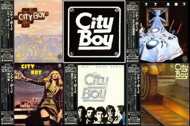 City Boy: 5 Albums ● Air Mail Archive Japan MiniLP 24Bit Remaster 2011 ● 1976 City Boy/1976 Dinner At The Ritz/1977 Young Men Gone West/1978 Book Early/1979 The Day The Earth Caught Fire