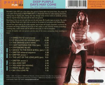 Deep Purple - Days May Come And Days May Go 2008 (2CD Special Edition)