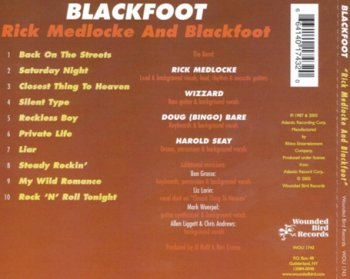Rick Medlocke And Blackfoot - Rick Medlocke And Blackfoot 1987 (Wounded Bird Rec. 2003)