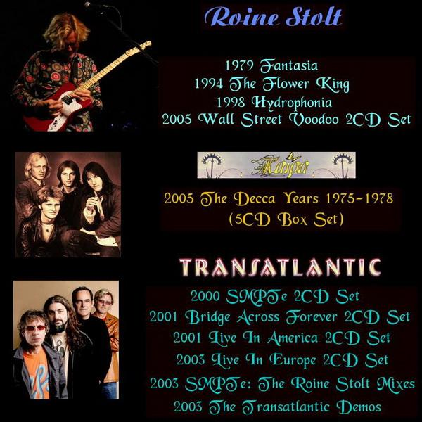 Roine Stolt ● Kaipa ● Transatlantic - 4 Editions ● 5CD Box Set ● 6 Editions