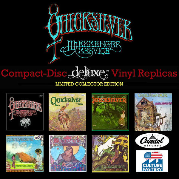 Quicksilver Messenger Service: 7 Albums Paper Sleeve CD Vinyl Replica Culture Factory USA 2012