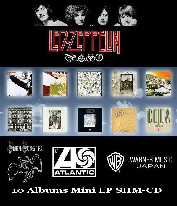 Led Zeppelin: 10 Albums Mini LP SHM-CD - Warmer Music Japan ● Remaster 2008 / Reissue 2012