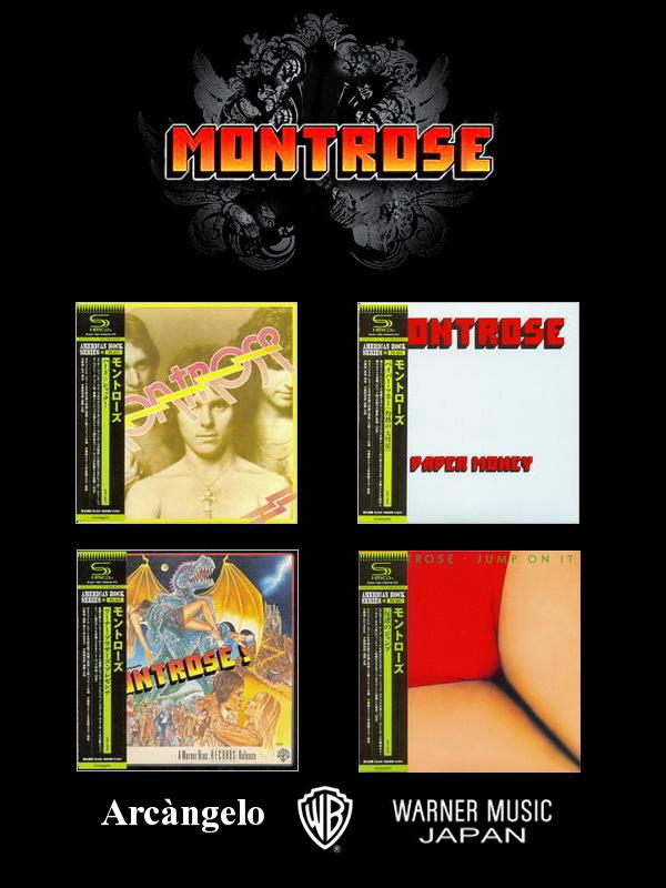 Montrose: 4 Albums Mini LP SHM-CD - Arcàngelo Records Japan ● Remaster & Reissue 2012