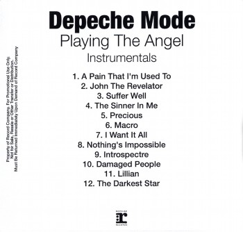 Depeche Mode - Playing The Angel (Instrumentals) (2005)
