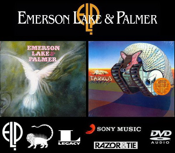 1970 Emerson Lake & Palmer ● 1971 Tarkus - 2CD + DVD-A Box Sets ● Sony Music / Razor & Tie Recordings 2012