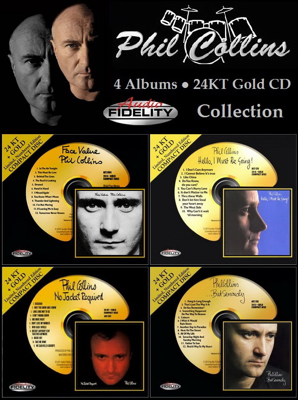 Phil Collins: 4 Albums ● 24KT Gold CD - Audio Fidelity Collection 2010/2011/2012