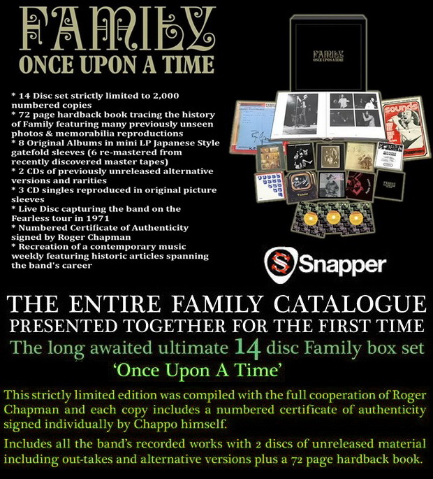 Family: Once Upon A Time - 14CD Limited Numbered Collector Box Set Snapper Music 2013