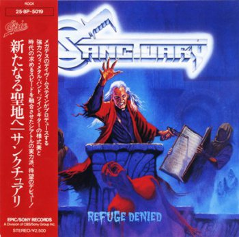Sanctuary - Refuge Denied 1987 (Epic/CBS, Japan 1988)