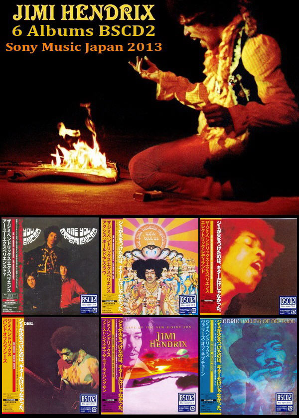The Jimi Hendrix Experience / Jimi Hendrix - 6 Albums Mini LP Blu-spec CD2 Sony Music Japan 2013