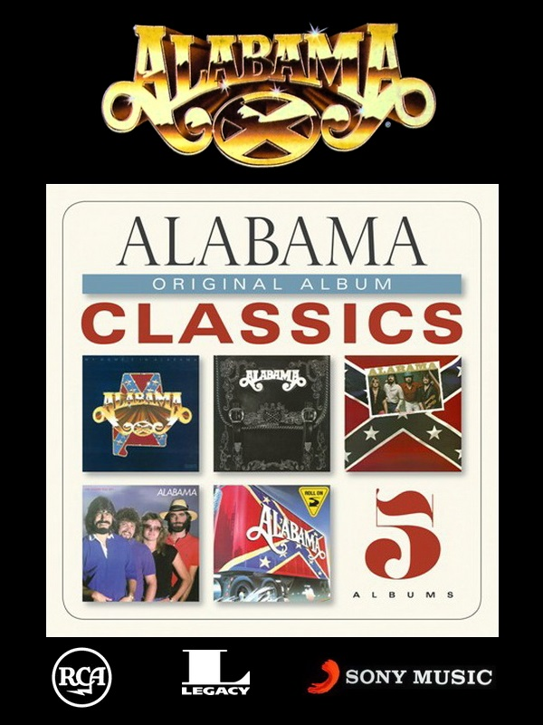 Alabama: Original Album Classics - 5CD Box Set Sony Music Entertainment 2013