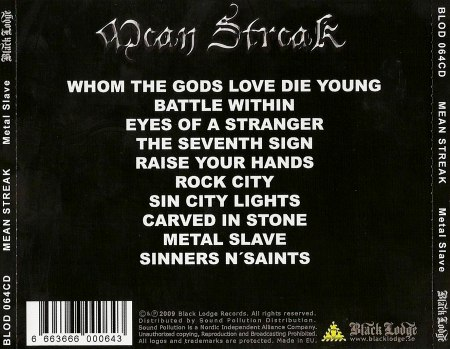 Mean Streak - Metal Slave (2009)
