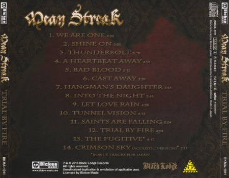 Mean Streak - Trial By Fire [Japanese Edition] (2013)