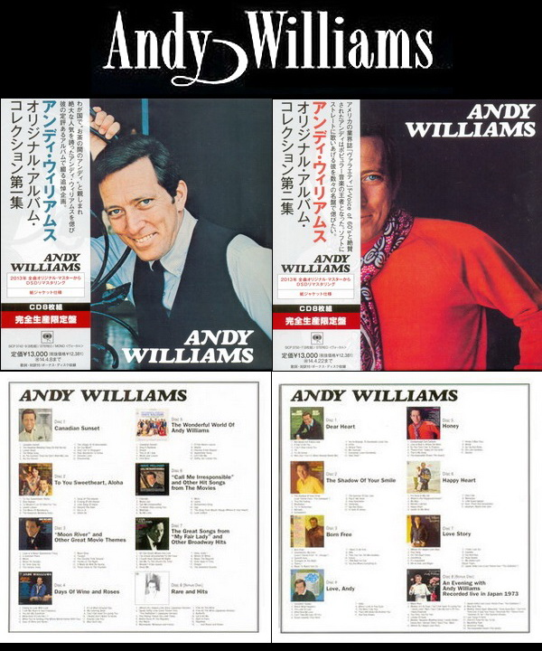 Andy Williams: Original Album Collection Vol.1 & Vol.2 - 2 X 8 Mini LP CD Box Sets Sony Music Japan 2013