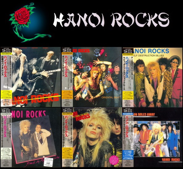 Hanoi Rocks: 6 Albums - Victor Entertainment Japan Mini LP SHM-CD 2013