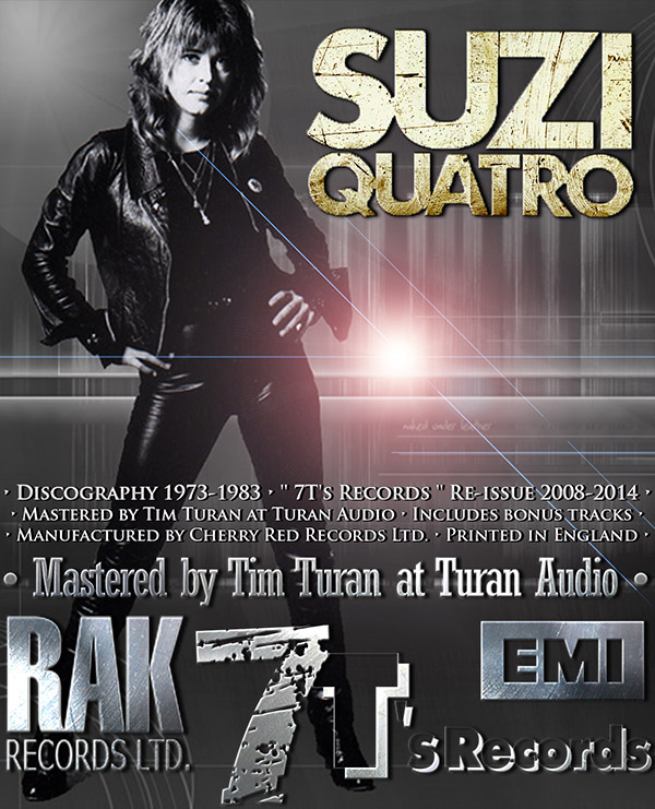 SUZI QUATRO - Discography 1973-1991 (UK 10 x CD + 6 Bonus CD • 7T's Records • Remaster 2008-2014)