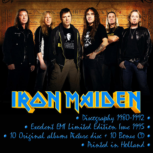 IRON MAIDEN - 11 Albums Collection (NL 22 x CD • EMI LIMITED • Issue 1995)