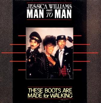 Jessica Williams Meets Man 2 Man - These Boots Are Made For Walking (Vinyl,12'') 1987