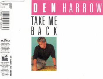 Den Harrow - Take Me Back (CD, Maxi-Single) 1989