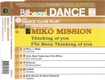 Miko Mission - Thinking Of You - I've Been Thinking Of You (CD, Maxi-Single) 2008