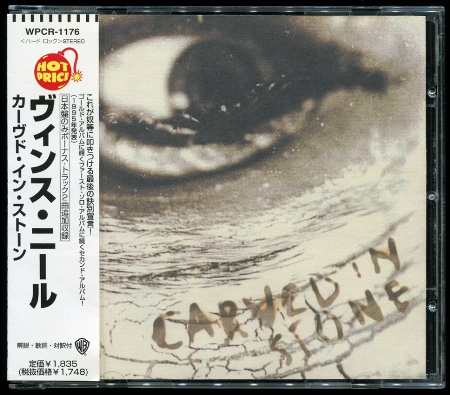 VINCE NEIL: Carved In Stone (1995) (1997, Warner Bros., WPCR-1176, Japan)