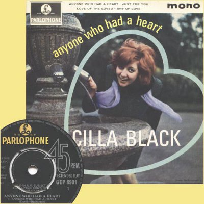Cilla Black - Anyone Who Had A Heart (1964) (Vinyl EP 45RPM)