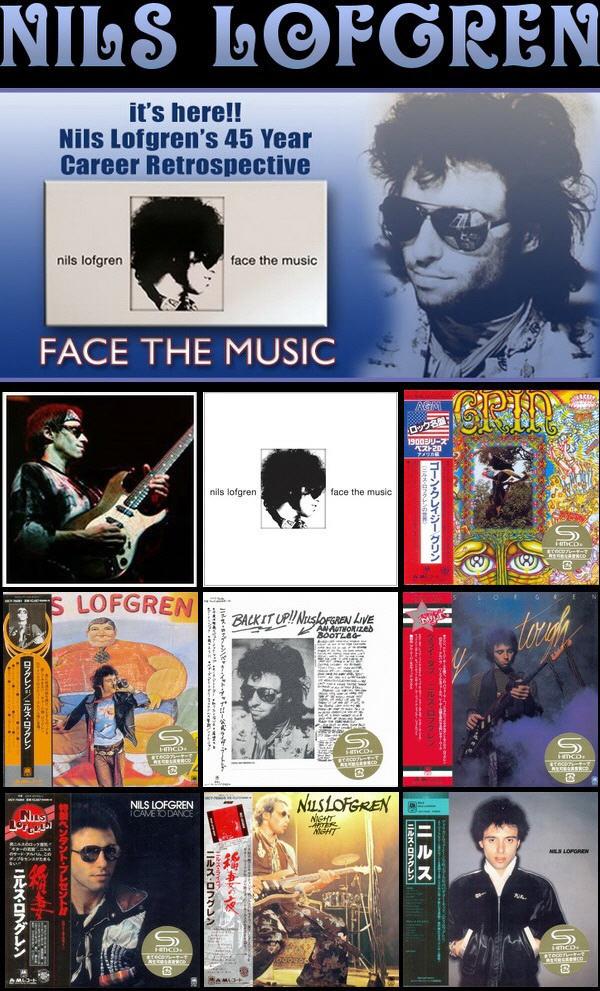 Nils Lofgren: Albums Collection - 7 Albums Mini LP SHM-CD + 9CD/DVD Deluxe Edition Box Set 2014