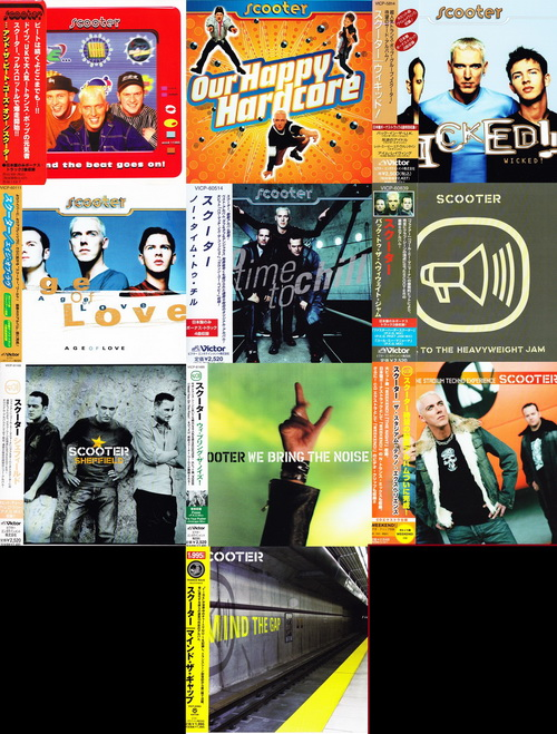 Scooter - 10 Albums Japanese Release (1996, 1997, 1998, 1999, 2000, 2001, 2003, 2004 Avex D.D. Inc.,Victor Entertainment, Inc.)