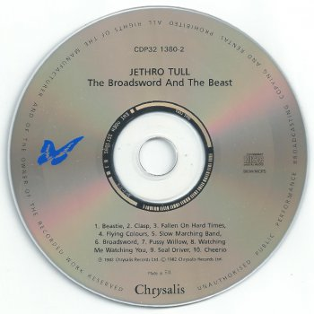 """Jethro Tull - """"Broadsword and the Beast"""" - 1982 (non-remastered, UK, CDP 32 1380 2)"""