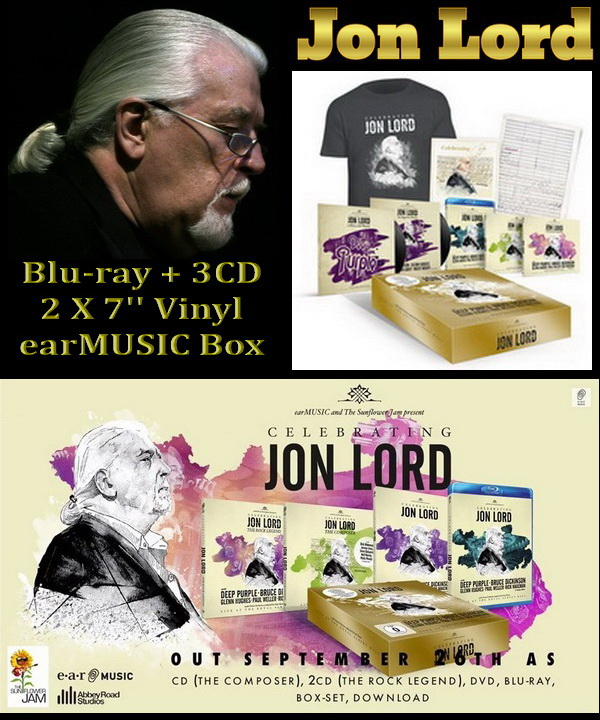 Celebrating Jon Lord: Blu-ray + 3CD + 2 X 7'' Vinyl earMUSIC Box Set 2014