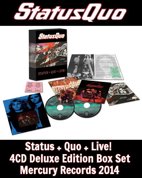 Status Quo: Status + Quo + Live! - 4CD Deluxe Edition Box Set Mercury Records 2014