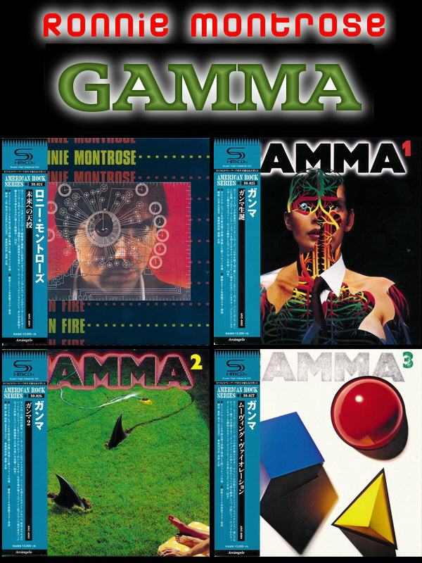 Gamma & Ronnie Montrose: 4 Albums - Mini LP SHM-CD Arcàngelo Records Japan 2014