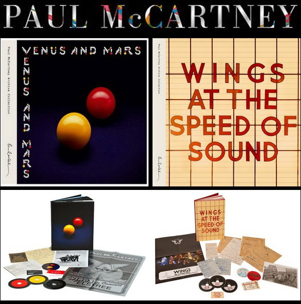 Paul McCartney And Wings - 1975 Venus And Mars • 1976 At The Speed Of Sound / 2CD + DVD Deluxe Box Set Hear Music 2014