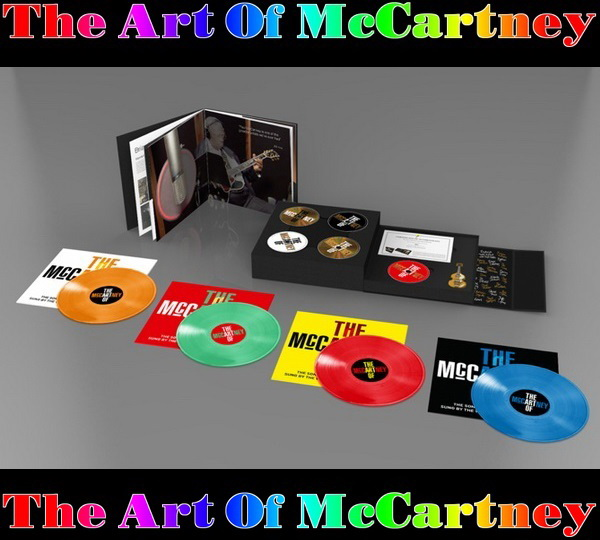 2014 The Art Of McCartney: 4CD + DVD + 4LP + USB - Super Deluxe Box Set Arctic Poppy