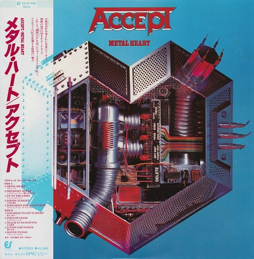 Accept - Metal Heart [Portrait, Jap, LP, (VinylRip 24/192)] (1985)