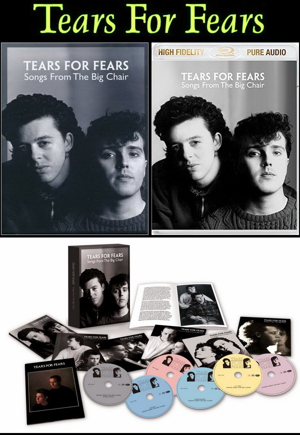 Tears For Fears: 1985 Songs From The Big Chair - 4CD + 2DVD Box Set / Blu-ray Audio 2014