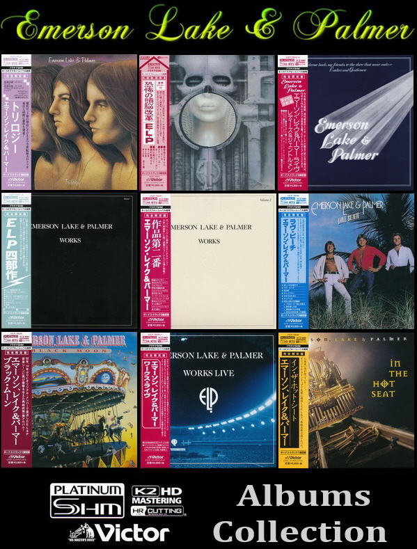 Emerson Lake & Palmer: 9 Albums PT-SHM Collection 2014/2015