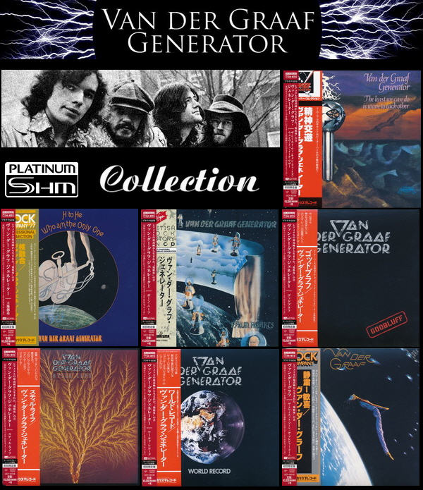 Van Der Graaf Generator: 7 Albums - Mini LP Platinum SHM-CD Universal Music Japan 2015