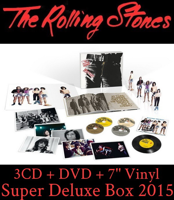 The Rolling Stones: 1971 Sticky Fingers / 3CD + DVD + 7'' Vinyl Super Deluxe Box Set Universal Music 2015